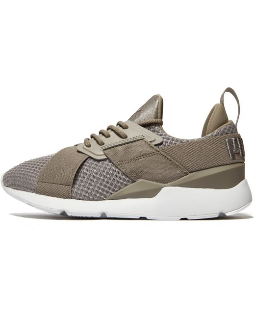 PUMA Men's Gray Muse X-strap Synthetic Trainer