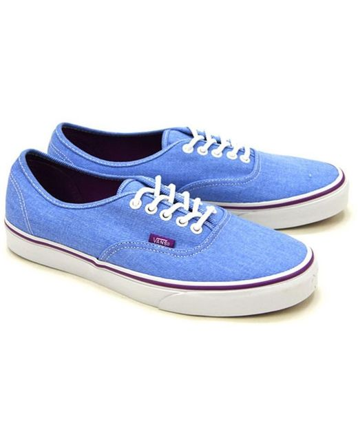 Vans Men's Washed Blue Old Skool Trainers
