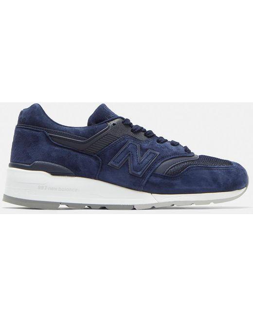 New Balance Men's 574 Suede Sneakers In Blue