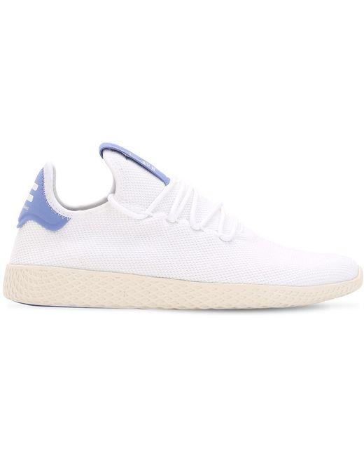 adidas Originals Men's White Pharrell Williams Knit Sneakers