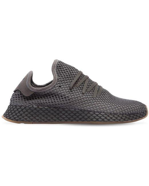 adidas Originals Men's Black Deerupt Runner Sneakers