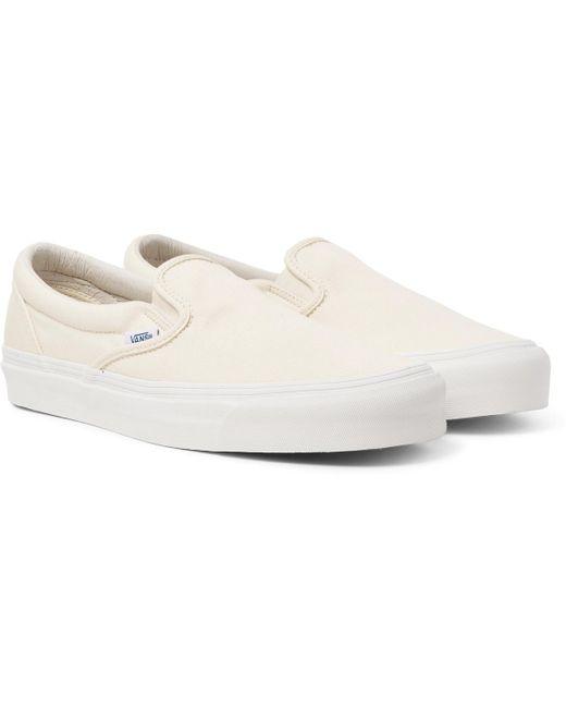 Vans Men's Black Og Classic Lx Canvas Slip-on Sneakers