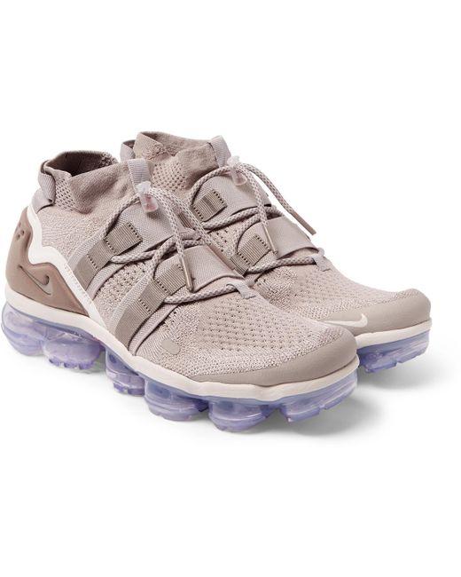 Nike Men's Green Vapormax Flyknit Utility Sneakers