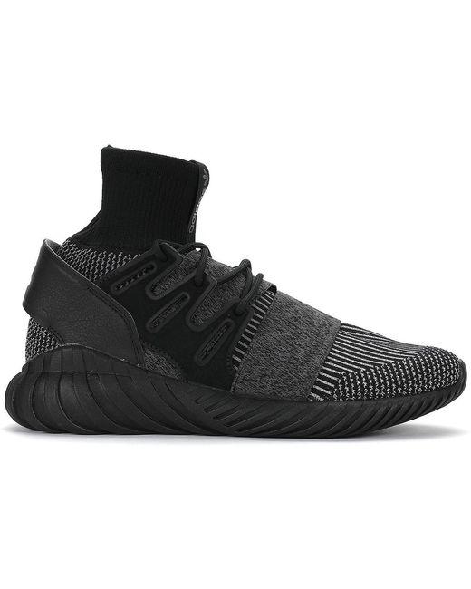 adidas Originals Men's Black Tubular Doom Primeknit Sneakers