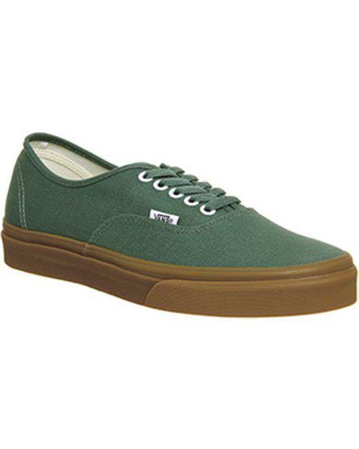 Vans Men's Green Authentic