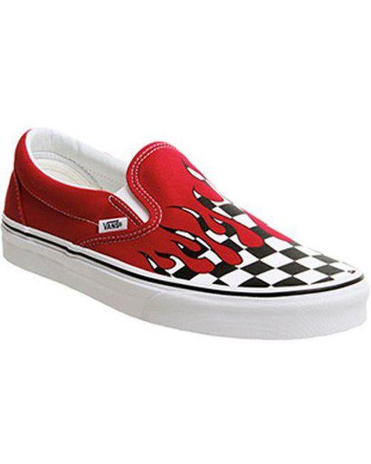 Vans Men's Red Classic Slip On