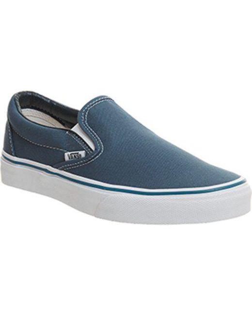 Vans Men's Blue Classic Slip On Shoes