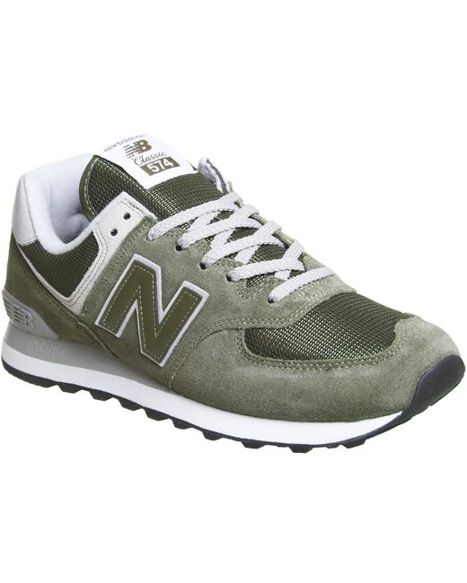 New Balance Men's Green W373 Suede Trainers