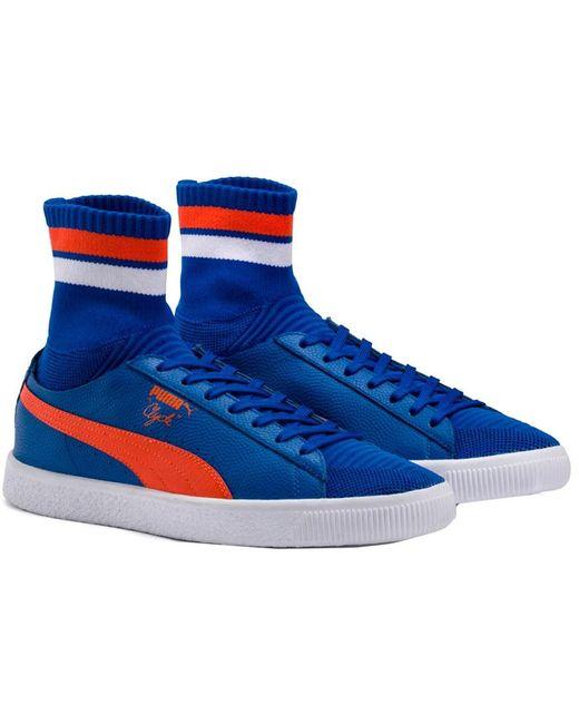 PUMA White Men's Clyde Sock Nyc Sneaker