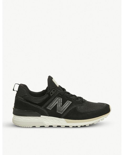 New Balance Men's 574 Sport Suede And Mesh Trainers
