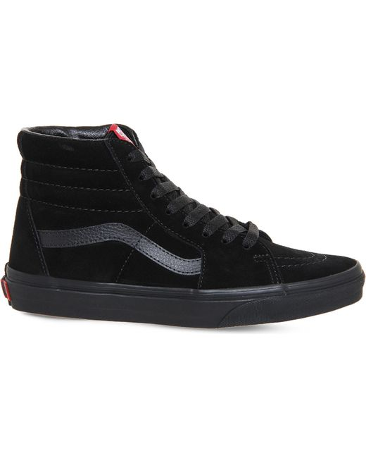 Vans Men's Black Sk8 Hi Tonal Canvas Trainers