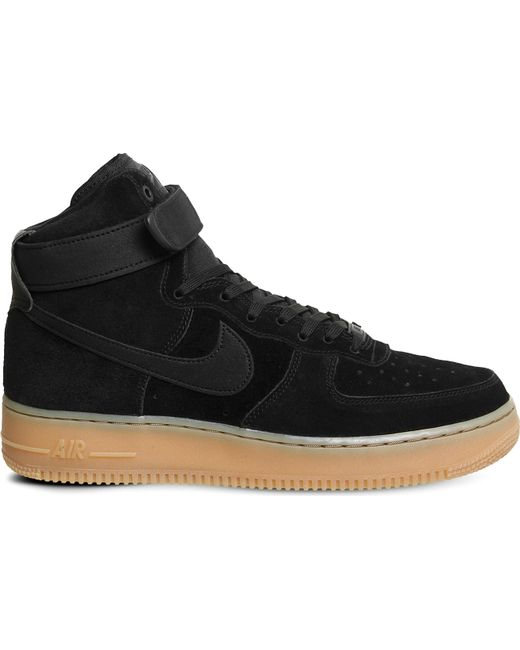 Nike Men's Blue Air Force 1 Mid-top Suede Trainers