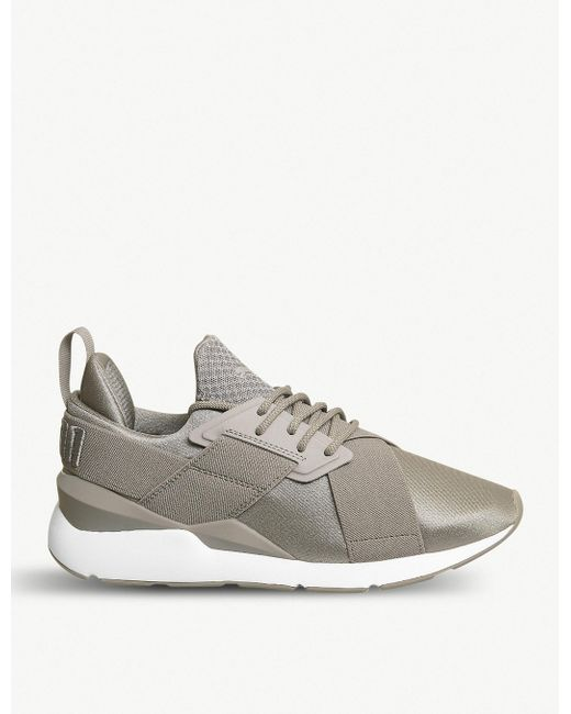 PUMA Gray Womens Rock Grey Muse X-strap Ep Trainers