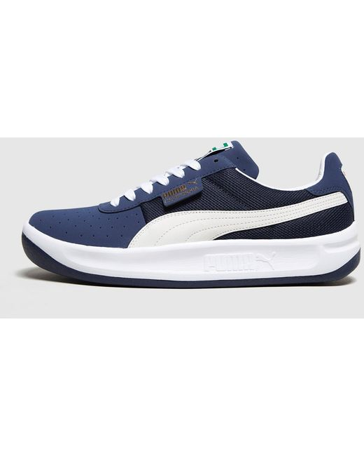 PUMA Black Men's California Casual Leather & Suede Lace-up Sneakers