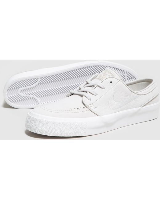 Nike Men's White Zoom Stefan Janoski Canvas Deconstructed