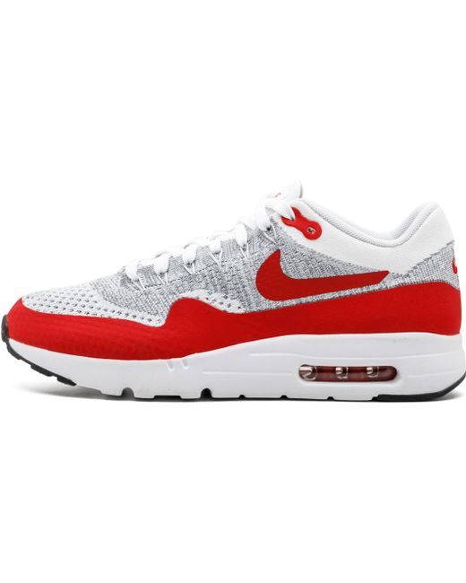 Nike Men's Red Air Max 90 Ultra 2.0 Flyknit