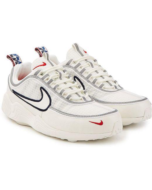 Nike Men's Black Air Zoom Spiridon Sneakers With Mesh