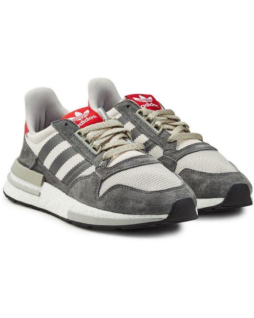 adidas Originals Men's Gray Zx 500 Rm Sneakers With Suede