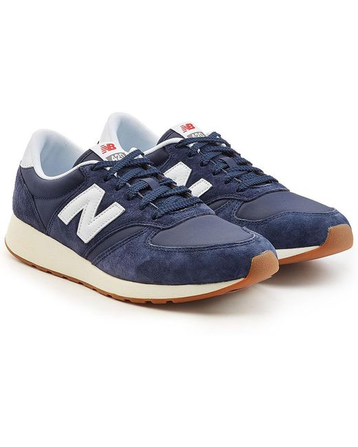 New Balance Men's Purple 420 Sneakers With Suede