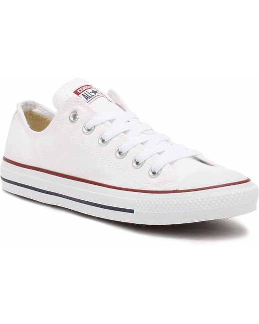 Converse Men's White All Star Canvas Low-top Trainers