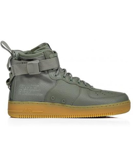 Nike Men's Red Air Force 1 Mid Sf
