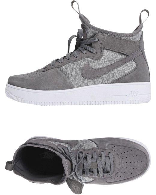 Nike Men's Gray High-tops & Sneakers