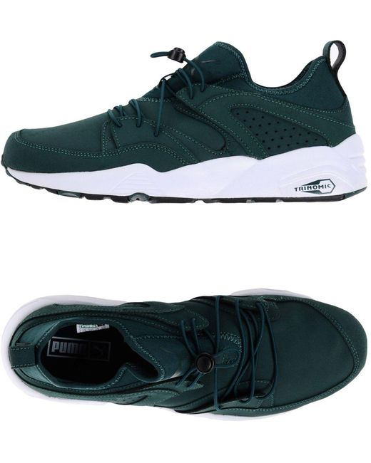 PUMA Men's Green Low-tops & Sneakers