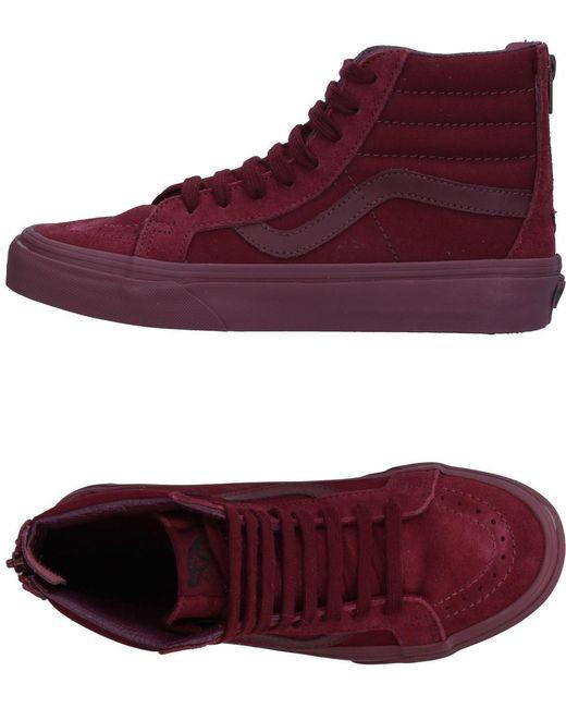 Vans Men's Purple High-tops & Sneakers