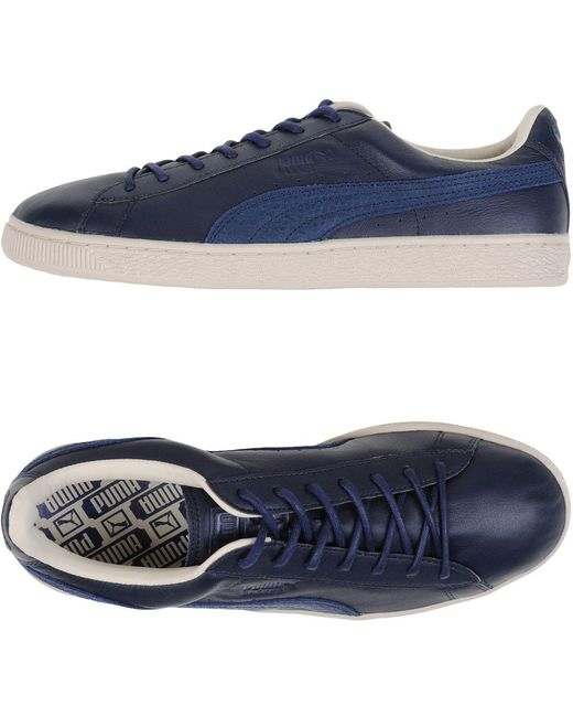 PUMA Men's Blue Low-tops & Sneakers