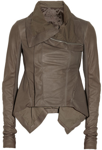 Rick Owens-Naska Leather Biker Jacket