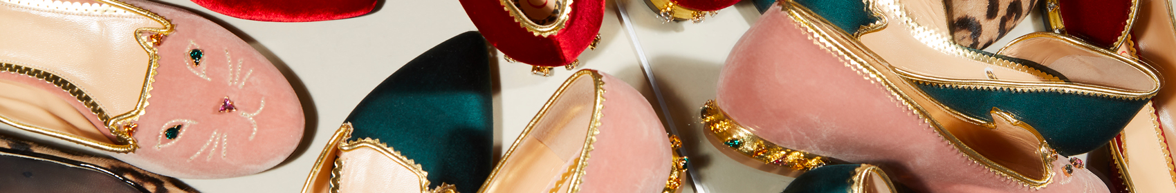 It girl and shoemaker Charlotte Dellal launched her footwear label, Charlotte Olympia, in 2006. Heavily influenced by the old Hollywood glamour of the forties and fifties, Charlotte Olympia creates sumptuous shoes with a classic silhouette.
