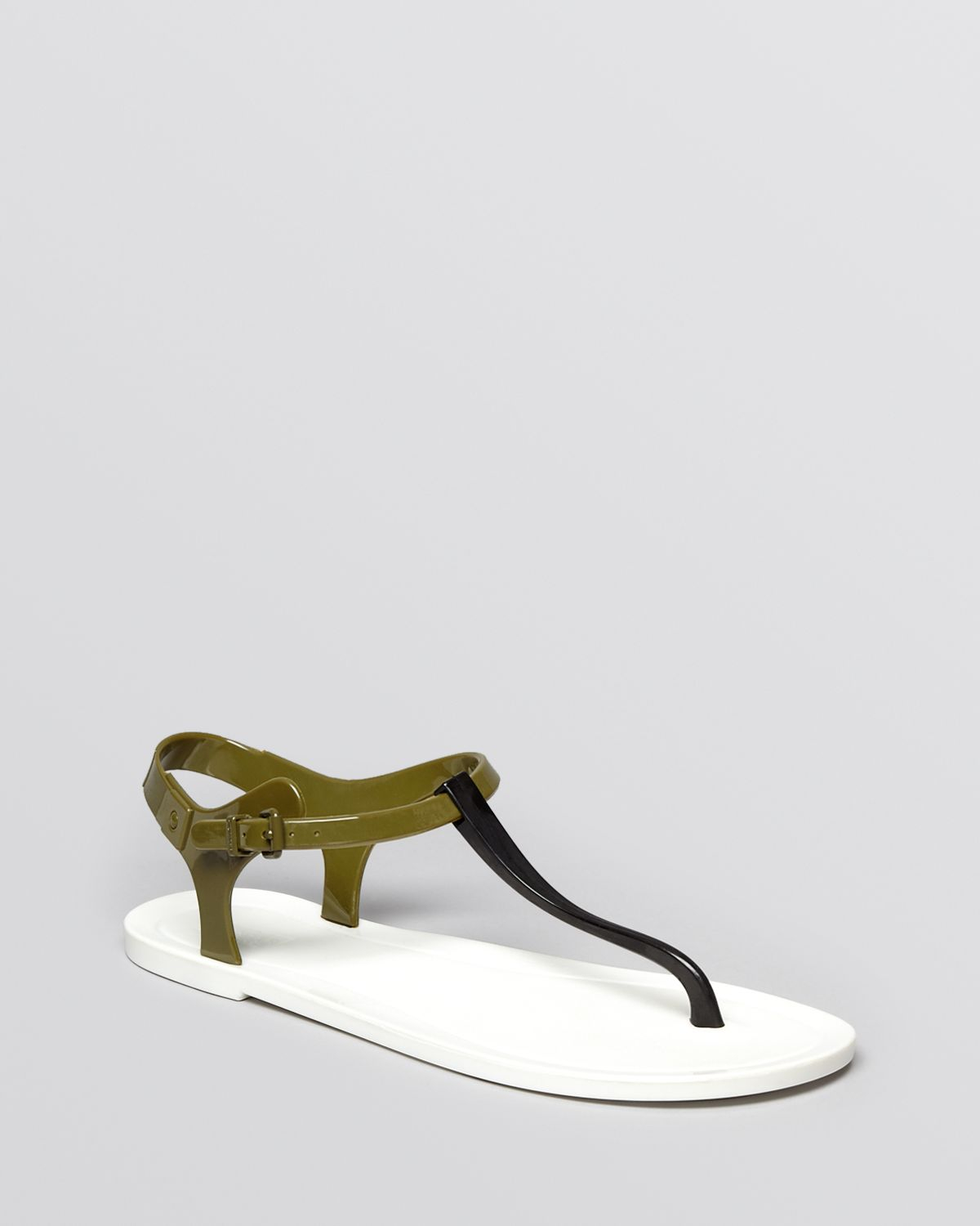 Lyst - HUNTER Jelly Thong Sandals - Original in White