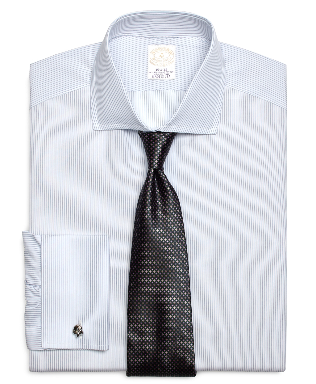 Lyst brooks brothers golden fleece madison fit french for Brooks brothers dress shirt fit
