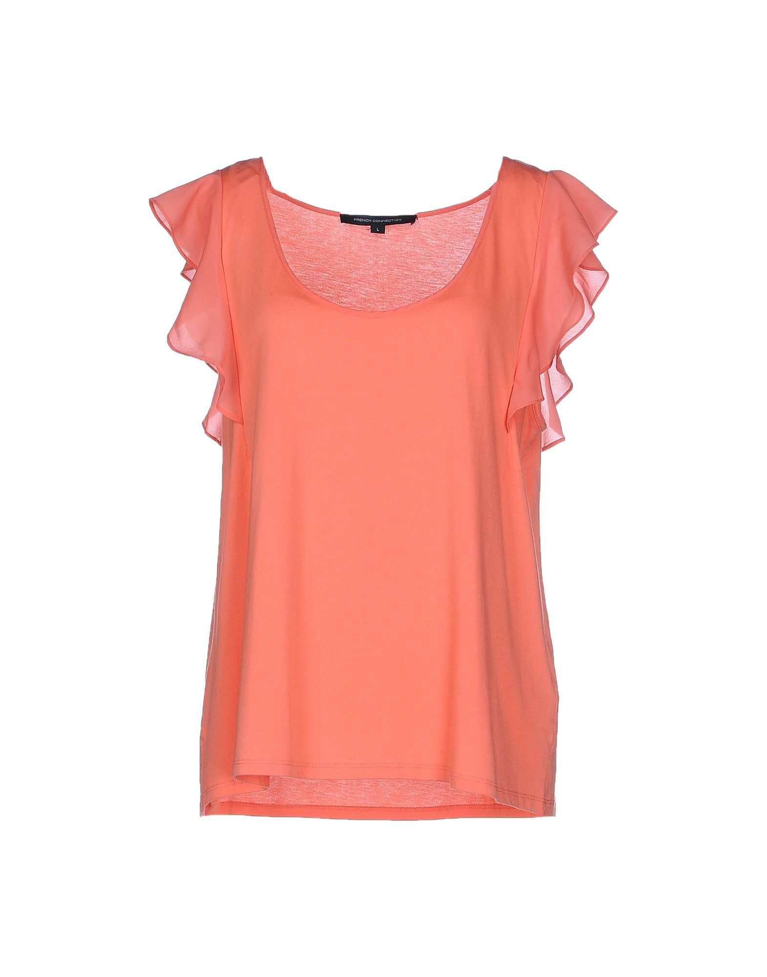 French Connection T Shirt In Orange Lyst