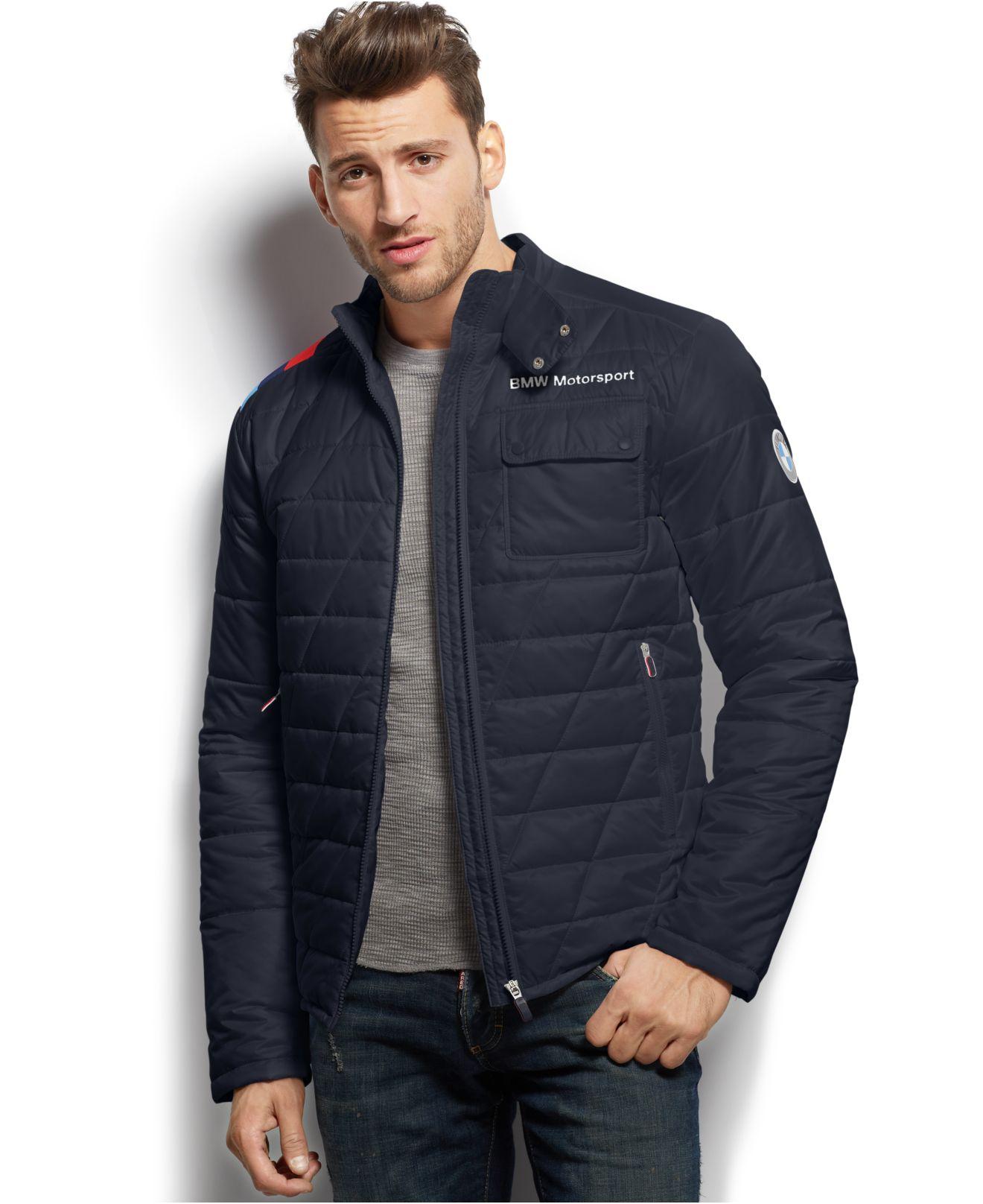 Lyst - Puma Bmw Motorsport Padded Jacket in Blue for Men : puma quilted jacket - Adamdwight.com