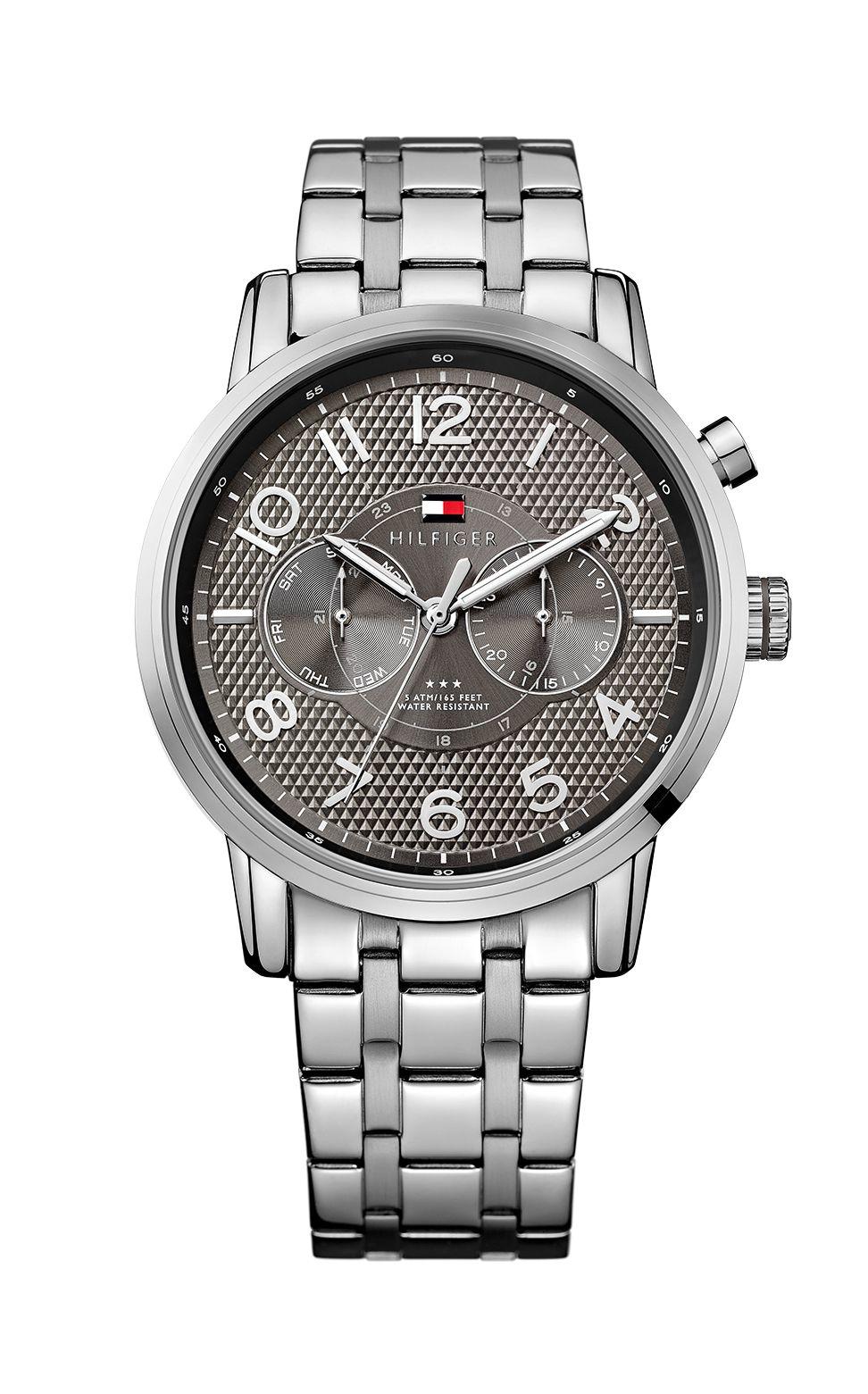 tommy hilfiger 51791086 mens bracelet watch in metallic for men lyst. Black Bedroom Furniture Sets. Home Design Ideas