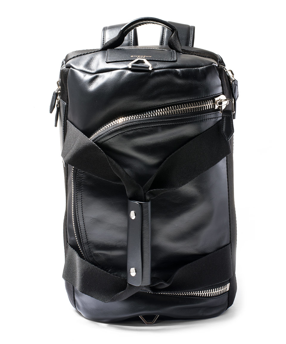 Lyst Givenchy Black Convertible Leather Duffle Backpack