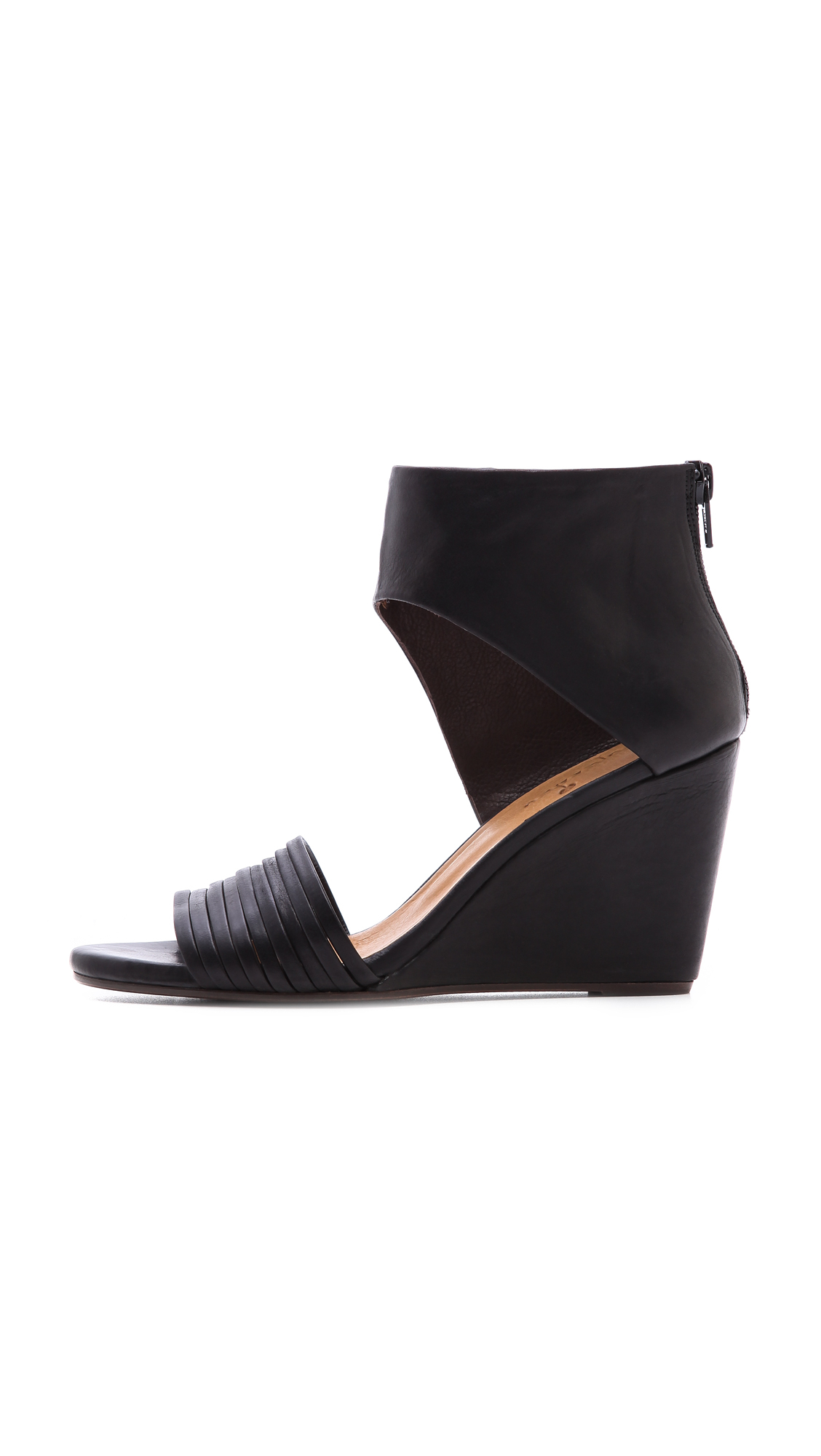 Coclico Juna Wedge Sandals In Black Lyst
