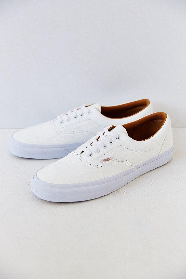 ae399155cf64 Vans Era Premium Leather Men S Sneaker in White for Men - Lyst