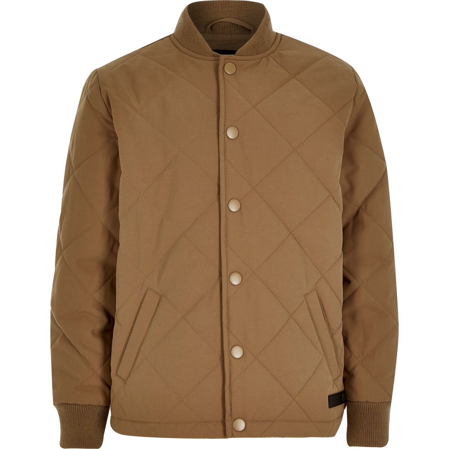 746f61639 River Island Boys Tan Quilted Jacket in Brown - Lyst