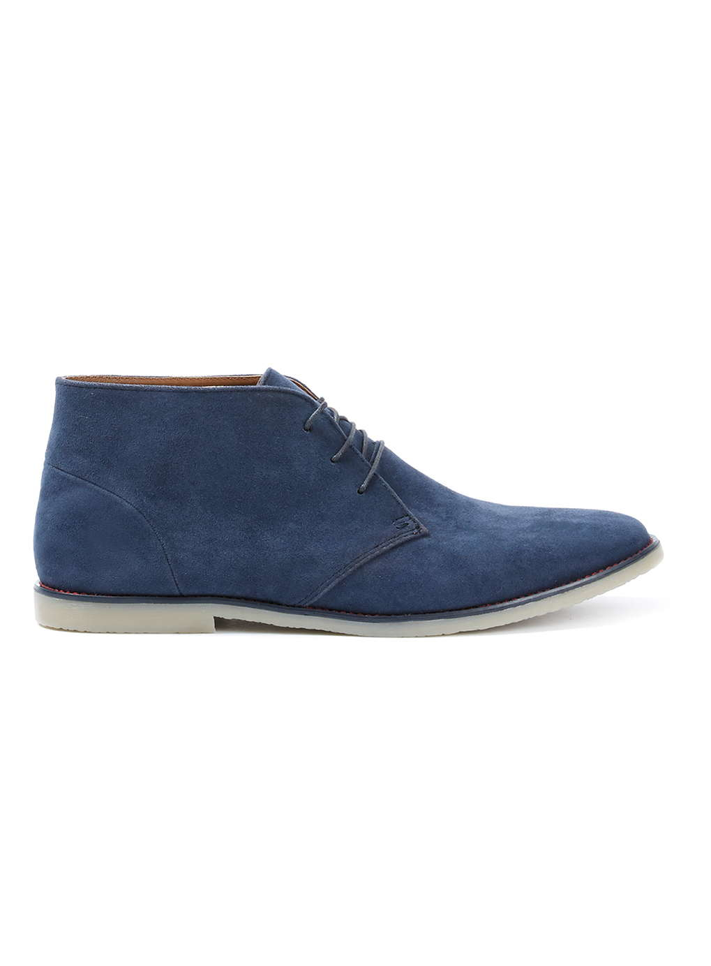 topman navy faux suede desert chukka boots in blue for