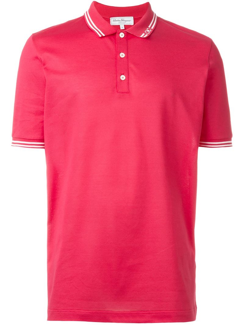 Lyst Ferragamo Classic Polo Shirt In Pink For Men