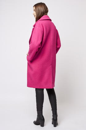 Bright Pink Wool Coat