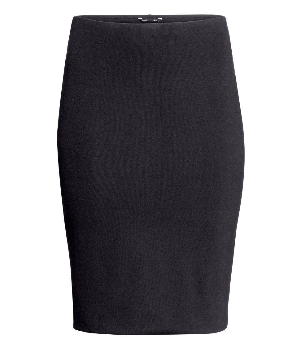 h m pencil skirt in black lyst