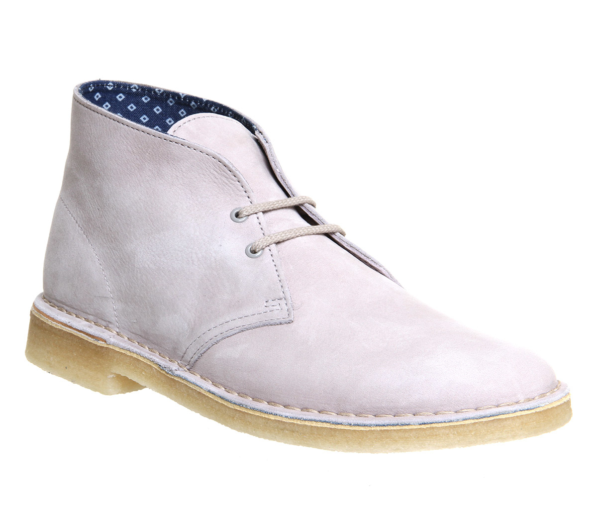 Clarks Desert Boots In White For Men Lyst