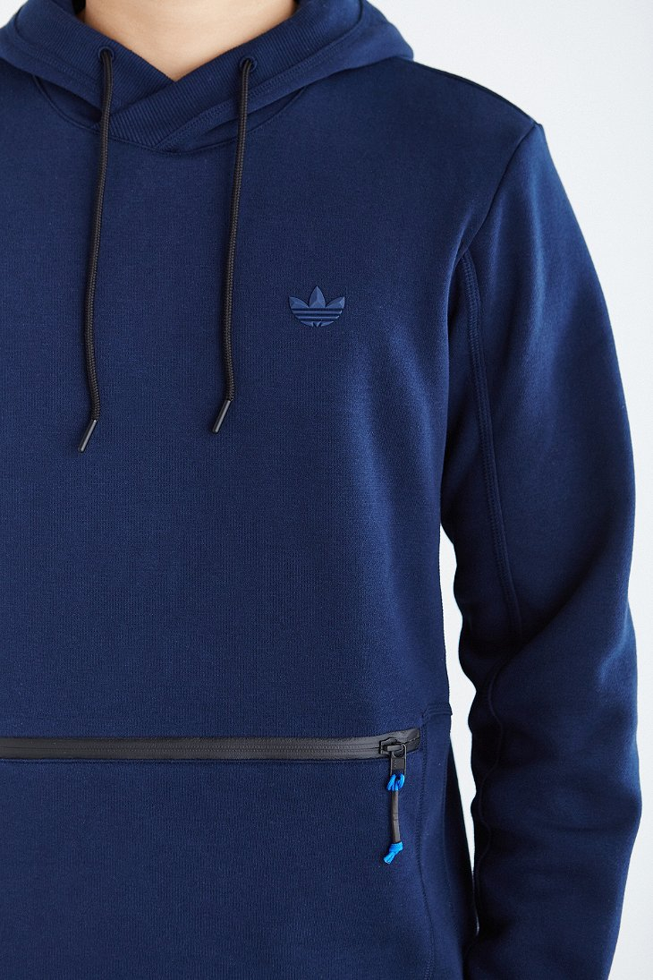 lyst adidas originals sport luxe pullover hooded. Black Bedroom Furniture Sets. Home Design Ideas