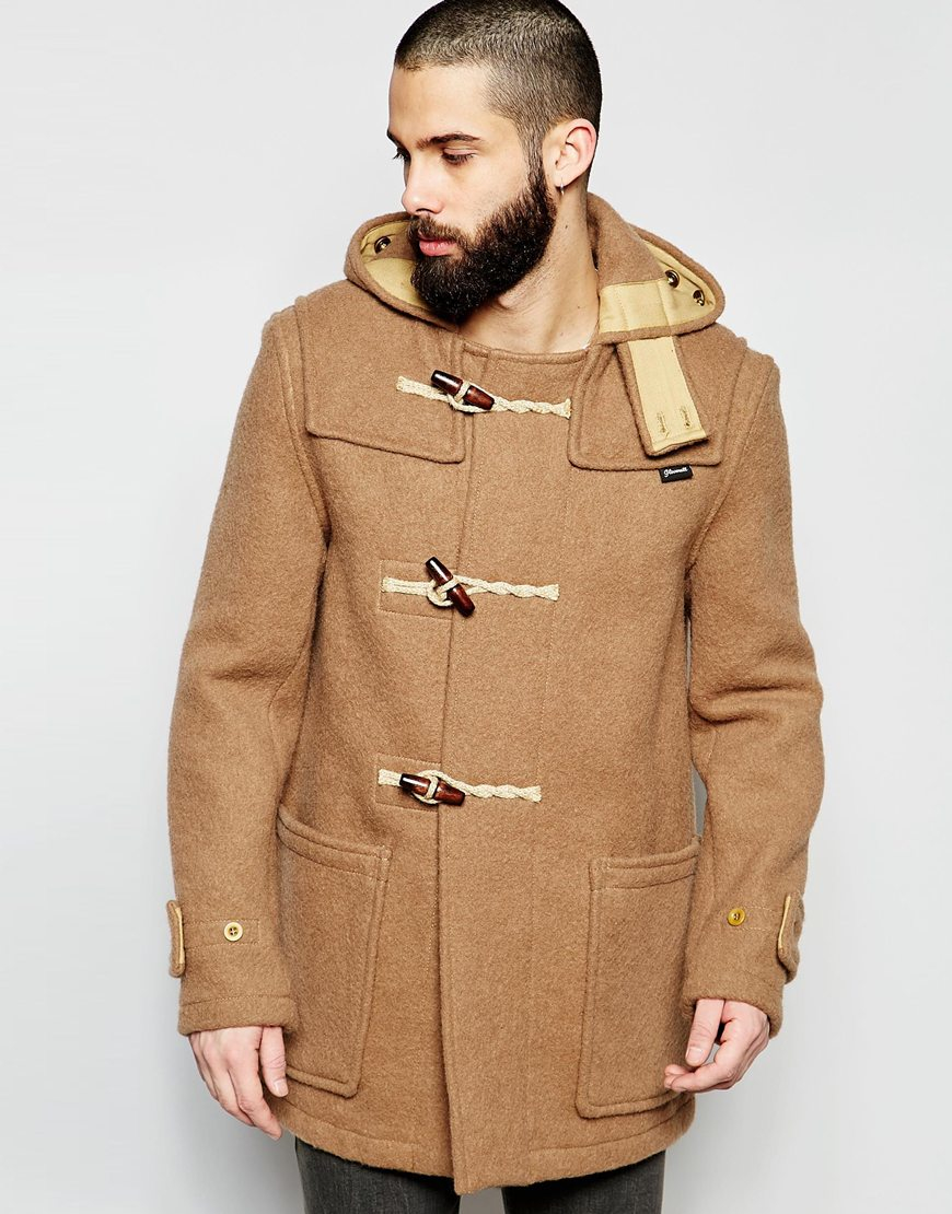 Gloverall Mid Monty Duffle Coat in Natural | Lyst