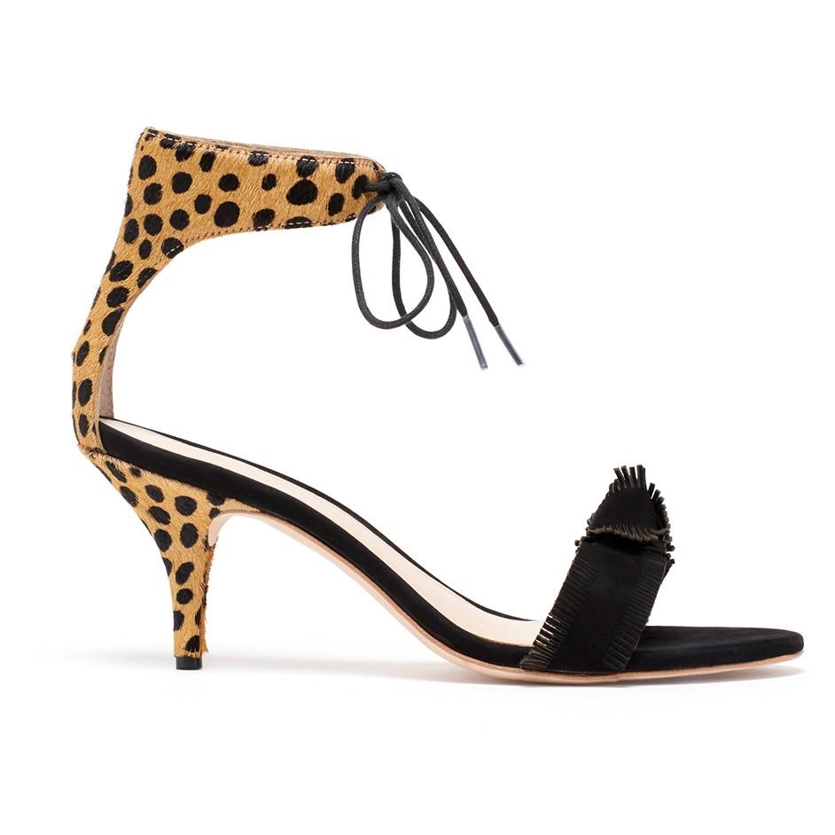 Lyst Loeffler Randall Nina Ankle Tie Kitten Heel In Black