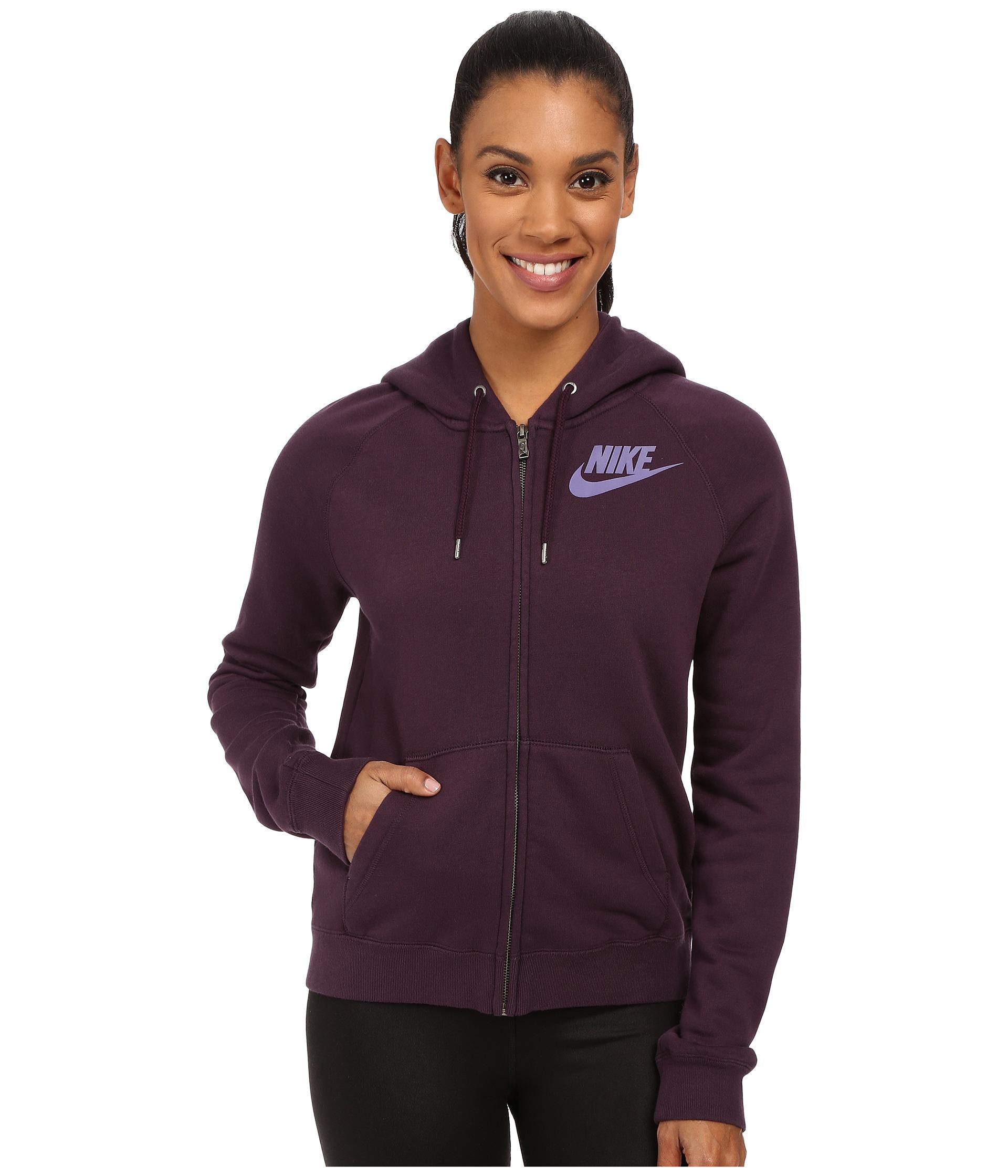 3413266059ae Lyst - Nike Rally Full-zip Hoodie in Purple