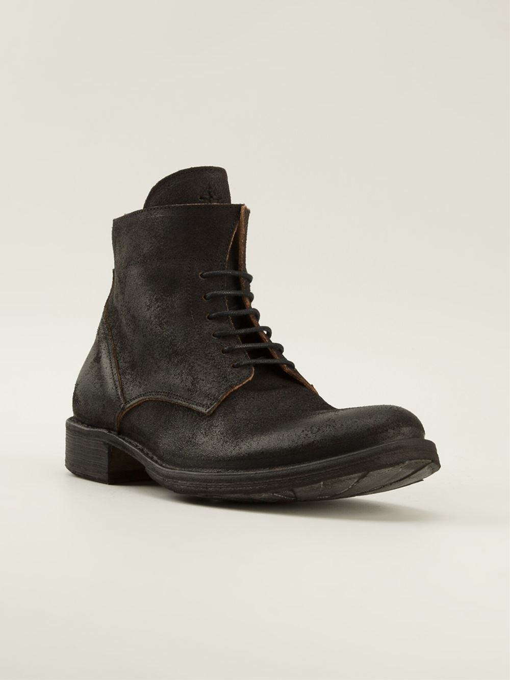 fiorentini baker lace up boots in brown for lyst